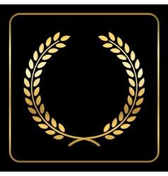 Gold laurel wreath design vector image