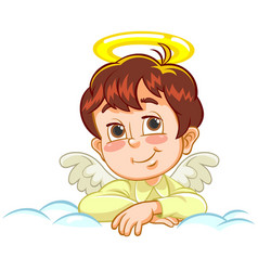 little baby angel with crossed arms vector image