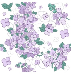 Seamless pattern of colorful purple flowers lilac vector image vector image