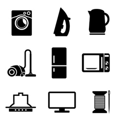 Set of home appliances icons vector image vector image