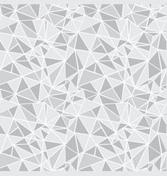 silver grey geometric mosaic triangles vector image