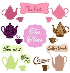 tea time coffee break vector image vector image
