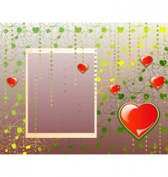 Valentine's background vector image vector image