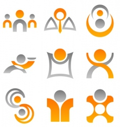 logos people vector image