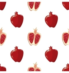 Red pomegranate seamless background vector image vector image