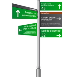 road signs with arrows vector image