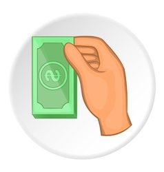 Arm with bill icon flat style vector