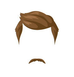 beard mustache and hairstyle vector image vector image