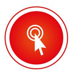 color circular emblem with cursor icon vector image vector image