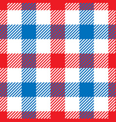 lumberjack plaid pattern in red white and blue vector image