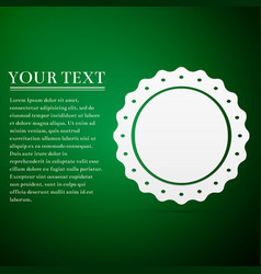quality emblem flat icon on green background vector image vector image