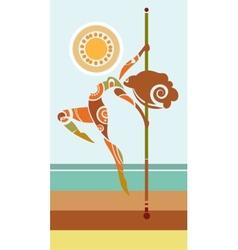 Tribal pole dancer vector image