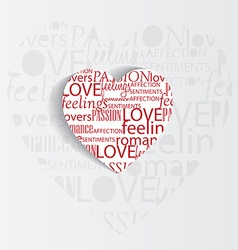 Valentines heart background vector
