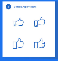 4 approve icons vector image