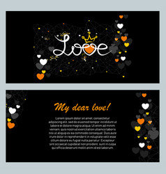 abstract greeting card for valentine day vector image
