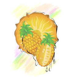 abstract sliced pineapple vector image