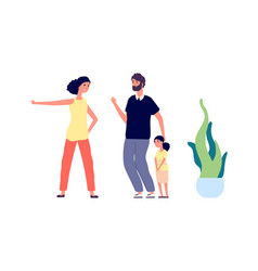 aggressive mother woman screams daughter family vector image