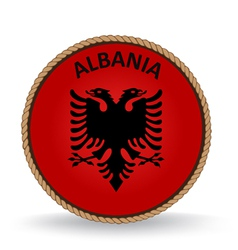 Albania seal vector