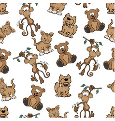 animal seamless repeating pattern vector image