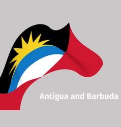 antigua and barbuda wavy flag background vector image
