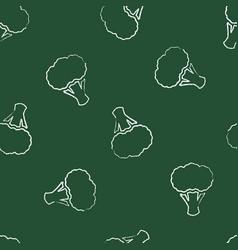 autumn chalk contour vegetable seamless pattern vector image