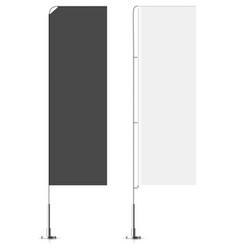 Banner flag templates banner flag mockups set vector
