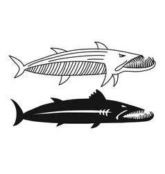Barracuda fish for your design vector