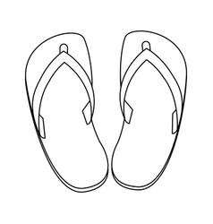 beach flip flops vector image