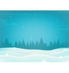 Beautiful winter landscape background with winter vector