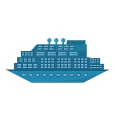 blue cruise ship travel maritime transport vector image
