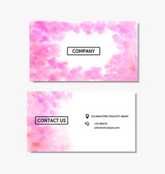 business card with a pink watercolor design vector image