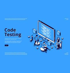 cartoon banner code testing vector image