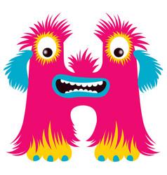 Cartoon capital letter h from monster alphabet vector