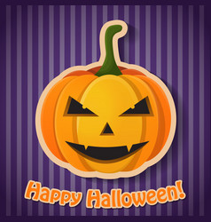 celebrating halloween party poster vector image
