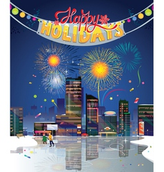 city holidays vector image