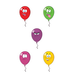 colorful balloons cartoon character 01 collection vector image