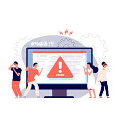 computer error warnings unavailable page users vector image