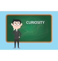 Curiosity concept with business man vector