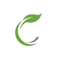 Eco Tree Leaf Logo Template vector image