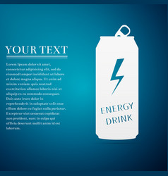 Energy drink flat icon on blue background vector