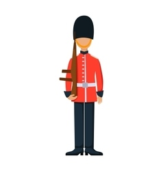England troop armed forces man with weapon vector image