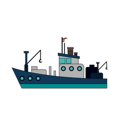 fishing boat icon image vector image