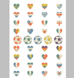 Flat Flags Heart vector