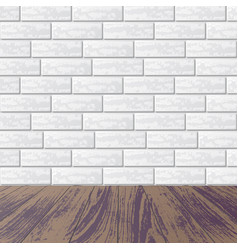 Gray brick wall with laminate floor vector