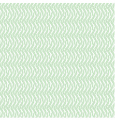 green wavy seamless floral pattern vector image