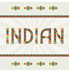 Indian Design word with ornament vector image