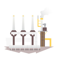 industrial factory building and plant industrial vector image