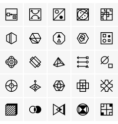 IQ test icons vector