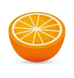 Juicy orange sliced healthy food icon design vector