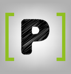 letter p sign design template element vector image
